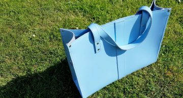 Competition Time! Zatchels, Handmade Leather Shopper In Baby Blue